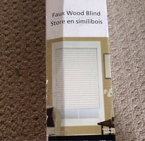 BRAND NEW White Faux Wood Blinds - $20 each