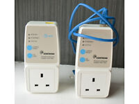 2 x Comtrend PowerGrid 902 Powerline Ethernet Adapters with filter