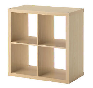 Ikea Expedit 2 x 2 square storage birch, with 2 drawers black