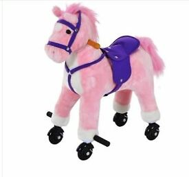 Pink HOMCOM Childrens Walking Horse