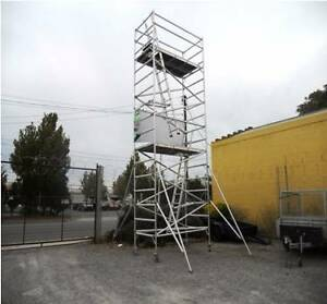 Double Width Aluminium Mobile Scaffold with 6.8m high is for SALE Revesby Bankstown Area Preview