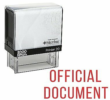 Official Document Office Self Inking Rubber Stamp - Red Ink E-5332