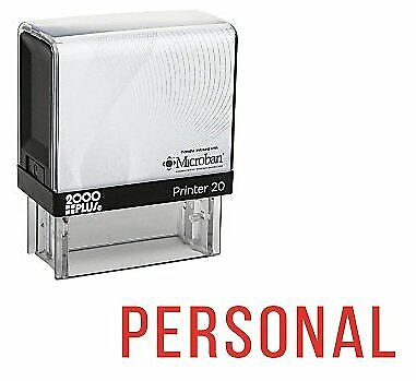 Personal Office Self Inking Rubber Stamp - Red Ink E-5084