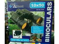 Out & About Binoculars 10x50 - New