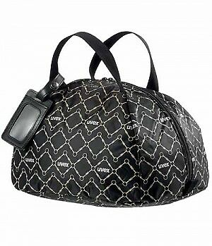 Uvex equestrian helmet bag black-brown Helmtasche mit uvex applikation
