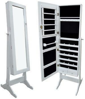 White Mirror Jewelry Armoire Ebay