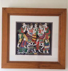 URGENT CLEARANCE! £5ea 3 X Unique Wooden Framed Pictures Thailand 'horses' 'faces' 'Songkran' Day'