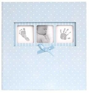 Baby Boy Polka Dot 6 x 4 Blue Photo Album Holds 200