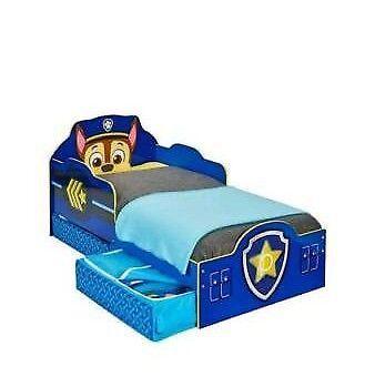 Paw patrol toddler bed with storage&mattress