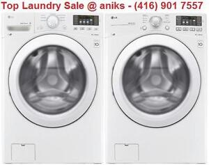 https://aniks.ca/ LG WM3270CW 27in 5.2 cu.ft. Non-Steam Washer and LG DLE3170W 7.4 cu. ft. Dryer.