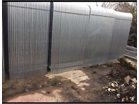 ~New~ Round Top Heras Style Security Metal Fence Panels ~ 3.45 X 2M ~