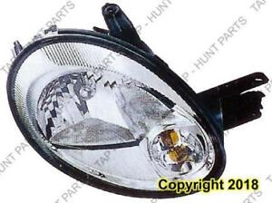 Head Lamp Passenger Side Chrome Bezel Without Leveling 5/12/03-05 High Quality Dodge Neon 2003-2005