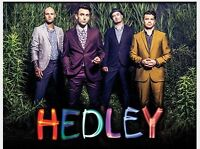 Hedley ** sec108** Excellent seats very close to the stage!