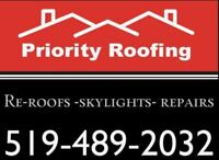 Skylights - Installed Or Replaced - By Skilled Staff!!  Call Now