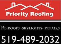 Spring is SPRINGING!!  Blue Skies!  Time to think of your ROOF!