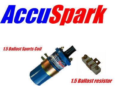 AccuSpark Blue Sports Ballast Ignition coil + 1.5 ohm Ballast Resistor DLB110