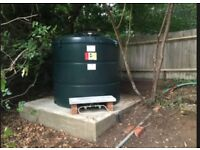 Nearly new oil boiler and tank for sale