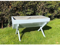 Price-reduced Garden Planter, treated wood & Cuprinol Preservative, incl liner & drainage holes