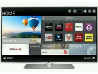"LG 50"" LED smart wi-fi built HD freeview full HD 1080p"