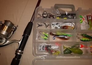 FISHING ROD and REEL with Plano tackle box
