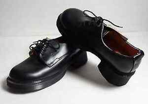 DR. MARTENS 4 EYE GIBSON SHOES BLACK Burgundy Leather Boots London Ontario image 2