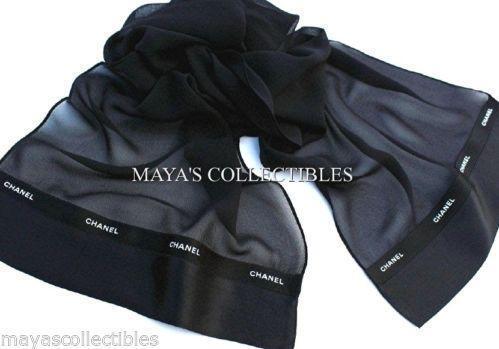 authentic chanel scarf scarves wraps ebay