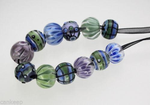 handmade lampwork glass beads sra