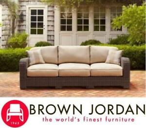 "NEW BROWN JORDON NORTHSHORE PATIO SOFA - 125775540 - 35.4""D X29.3""HX90.4""W"