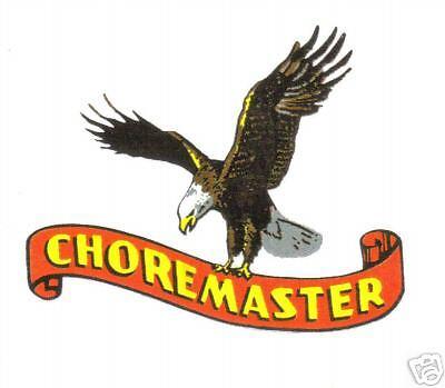 CHOREMASTER VINYL STICKER (A414)