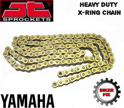 <em>YAMAHA</em> XS500 D ALLOY WHEEL 78 80 GOLD UPRATED X RING HEAVY DUTY CHAIN