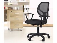 BRAND NEW Mesh Fabric Adjustable Swivel Computer Desk Office Chair Padded Soft Seat