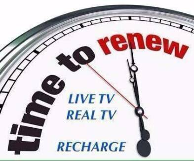 Recharge for Real TV, Live TV, FITV, Maxx tv,  iptv, V10