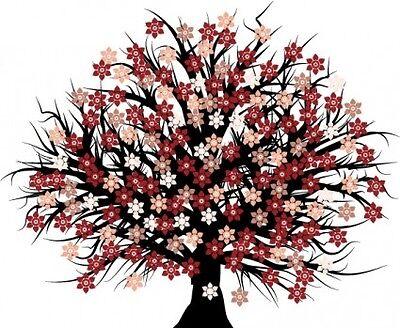 Rosa Bluetenbaum Mode und Schmuck
