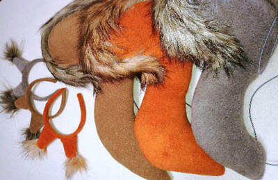 Squirrel Costume Tail (Squirrel tail and ears by Divendi handmade animal handmade helloween)