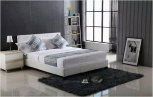 【Special Offer】LEATHER-LOOK Bed Frame Double/Queen Size
