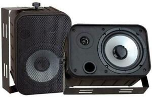 PYLE PDWR50B 6.5 Indoor/Outdoor Waterproof Speakers (Black)