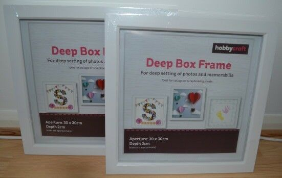2 X Hobbycraft Deep Box Frames White 30 x 30cm NEW
