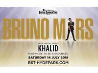 Bruno Mars 14th July Barclaycard presents British Summer Time