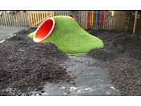 Rubber Bark Chippings 20l bags - cheap!