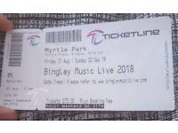 BML (Bingley Music Live) Weekend Ticket