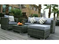 Garden rattan furniture set