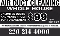 Air Ducts Cleaning $99 (226-214-4006)