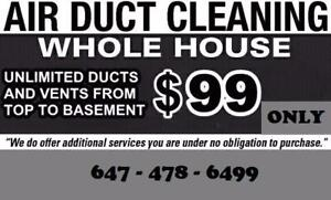 Professional Air Duct Cleaning with Truck Mounted | 647-478-6499