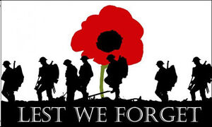 LEST WE FORGET FLAG LARGE 5 x 3 FT - WW1 WW2 Poppy Remembrance