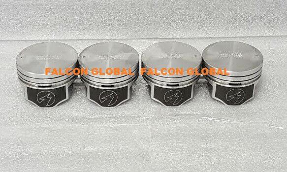 Mercury//Mercruiser 140 Chevy Marine 3.0//3.0L//181 Dish Top Pistons MOLY Rings STD