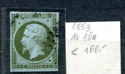Frankreich von 1853 Napoleon Nr. 10a gestempelt