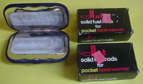 Vintage 2 New box 12 solid fuel sticks (24 total) & used Hot Pocket Hand Warmer