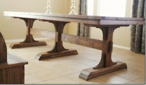 Pedestal Farmhouse Table Cambridge Kitchener Area image 3