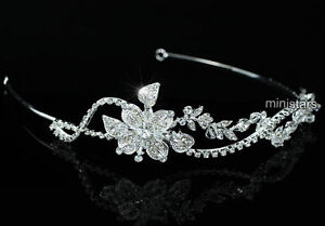 Bridal-Wedding-Prom-Side-Headpiece-Tiara-use-Swarovski-Crystal-T1465