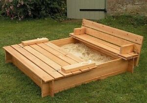 Sand Box And Garden Planter Cart